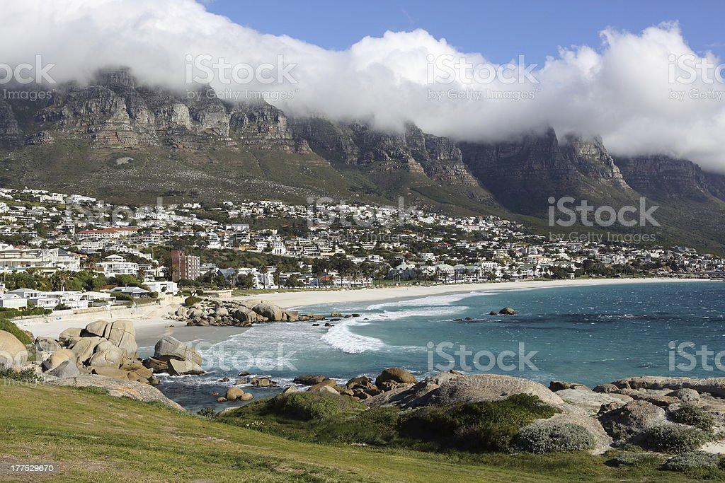 Cape Town Camps Bay and Twelve Apostles royalty-free stock photo