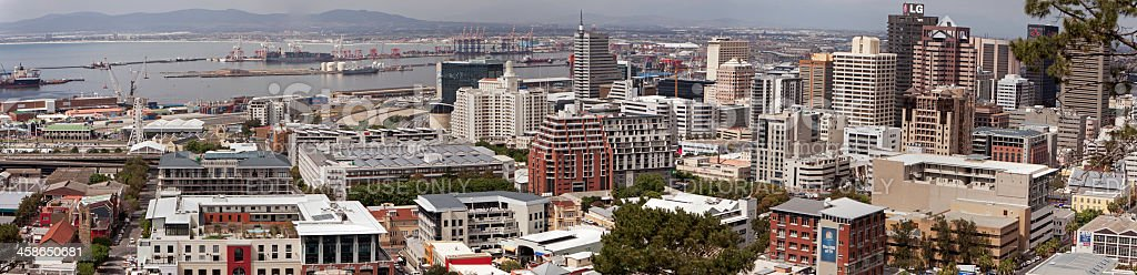 Cape Town City and the Docks royalty-free stock photo