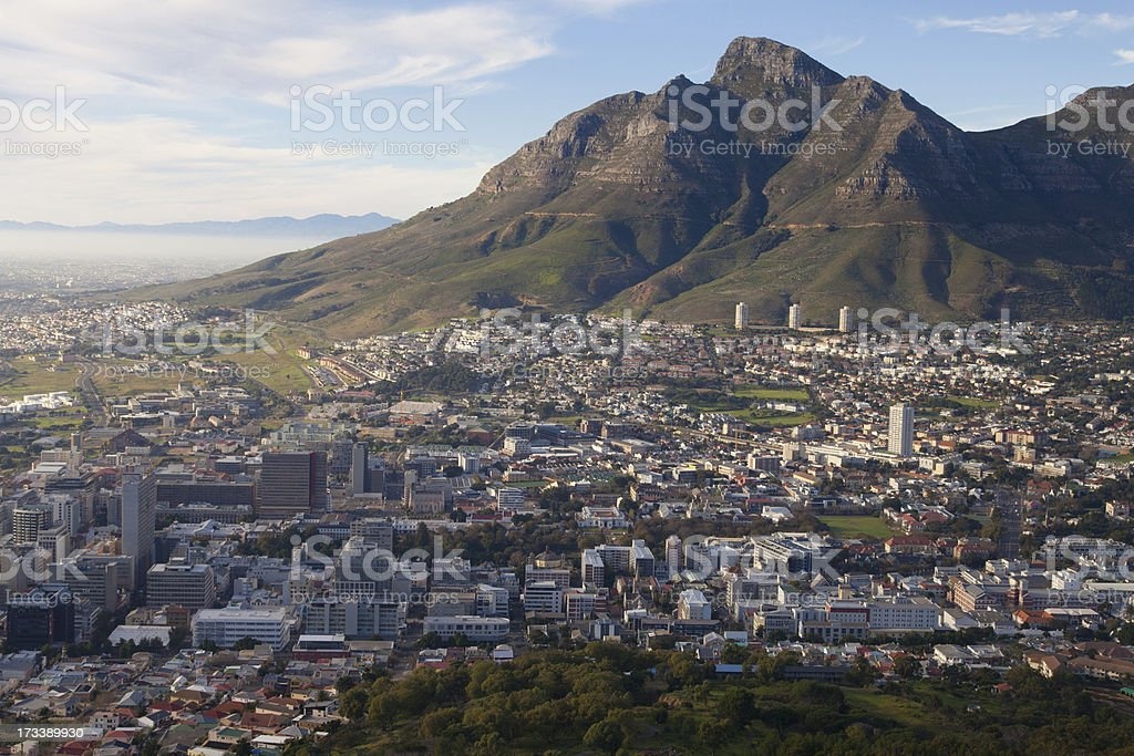 Cape Town City Bowl royalty-free stock photo