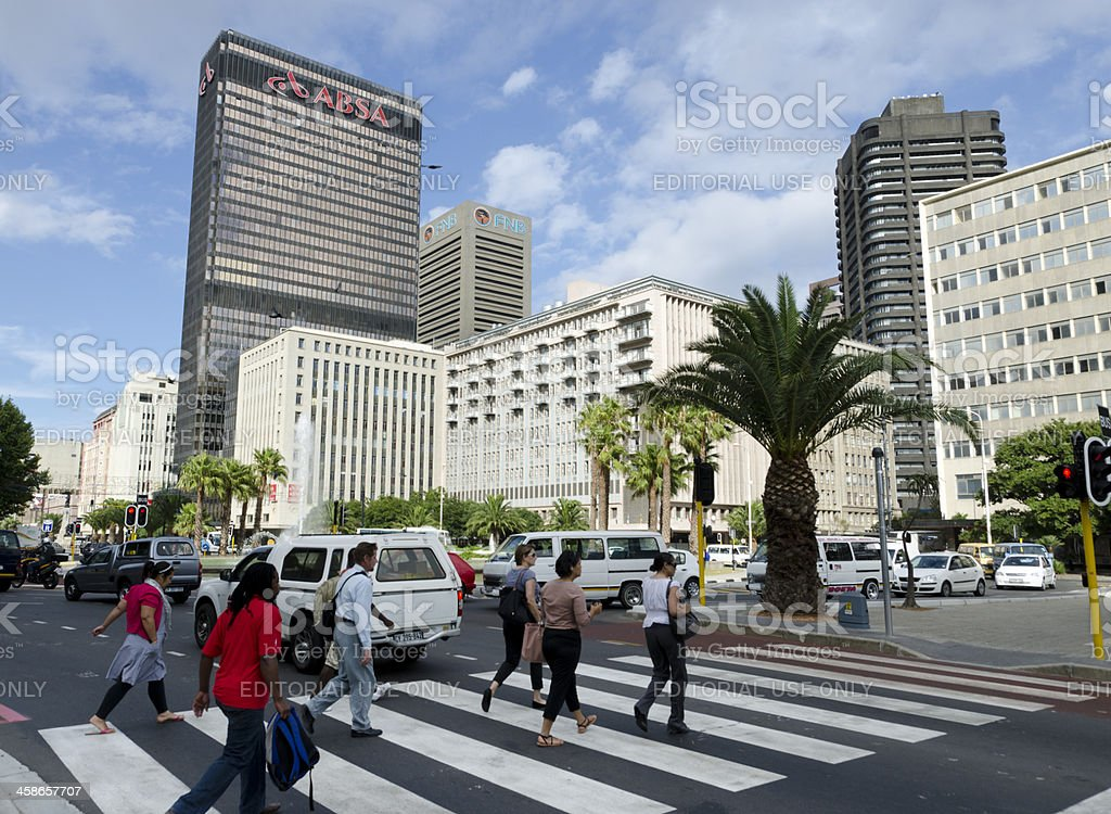 Cape Town city centre stock photo