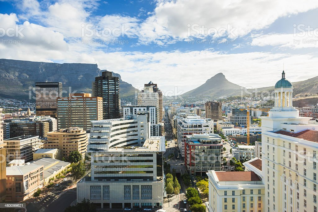 Cape Town City Dowtown Business District South Africa stock photo