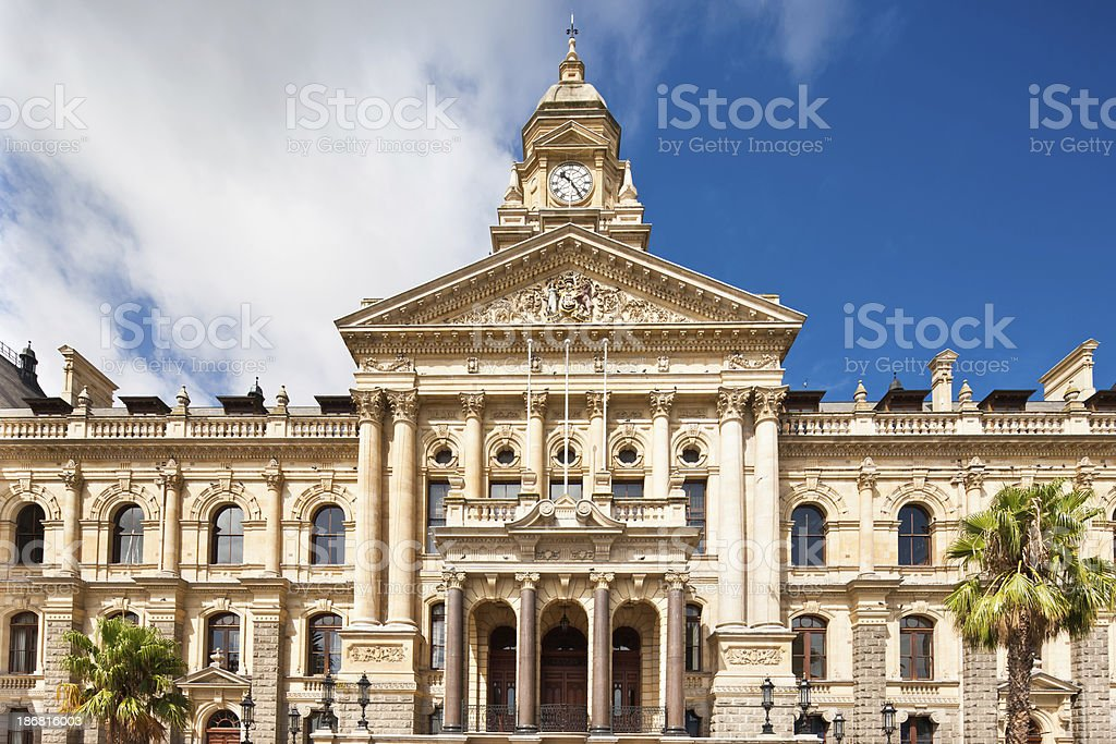 Cape Town City Hall South Africa stock photo