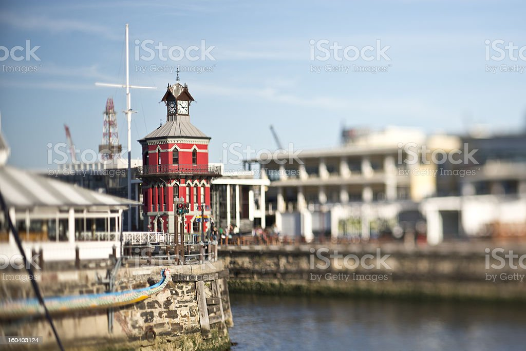 Cape Town Clock Tower royalty-free stock photo