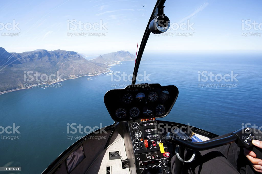Cape Town coastal aerial view stock photo