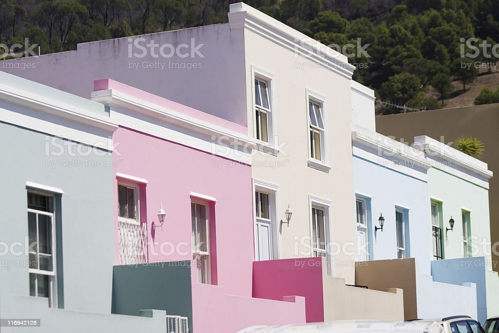 Cape Town, Colorful Homes stock photo
