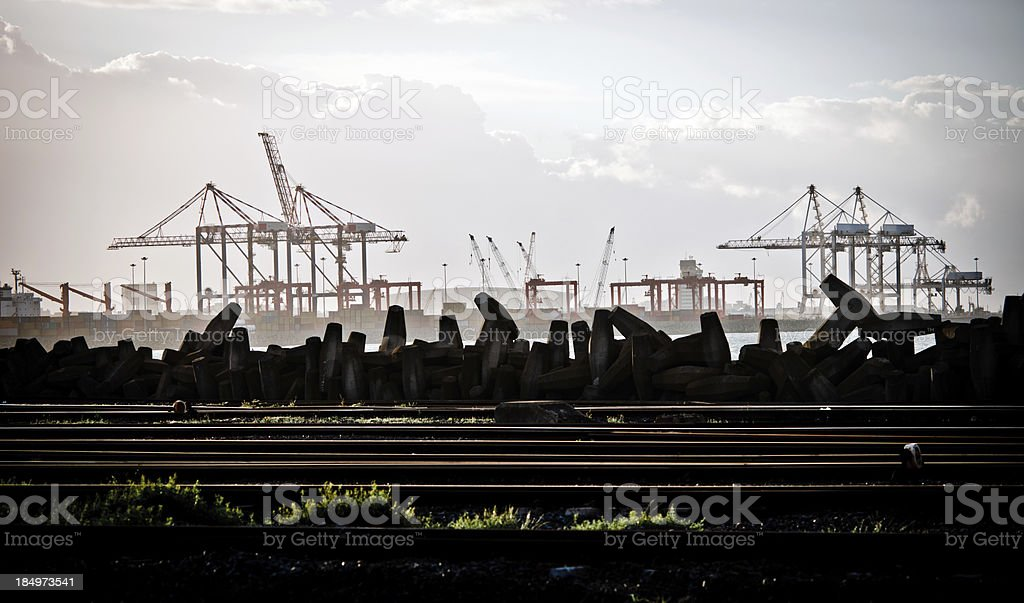 Cape Town Harbor royalty-free stock photo
