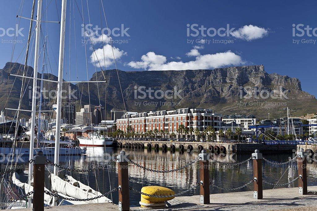 cape town harbour stock photo