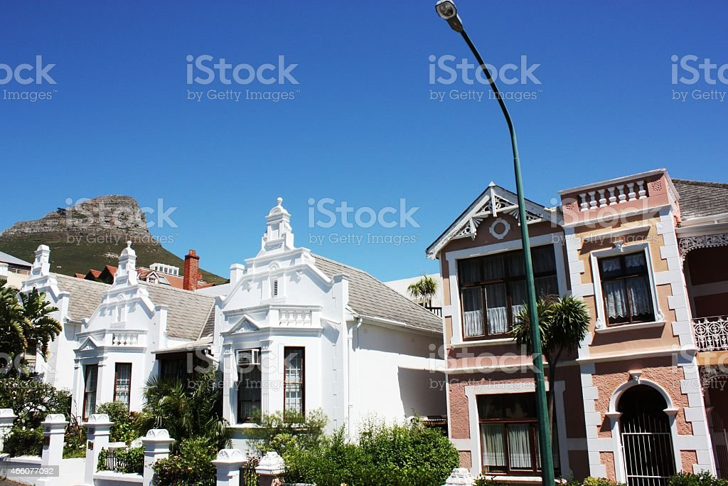 Cape Town in South Africa under  blue sky stock photo