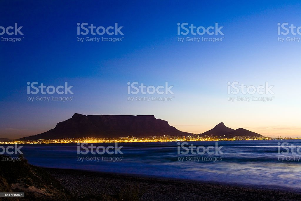 Cape Town lights #3 stock photo