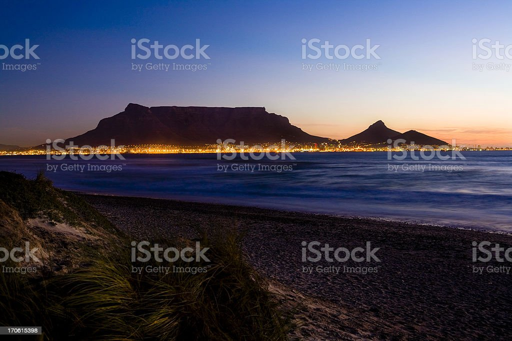 Cape Town lights #2 stock photo