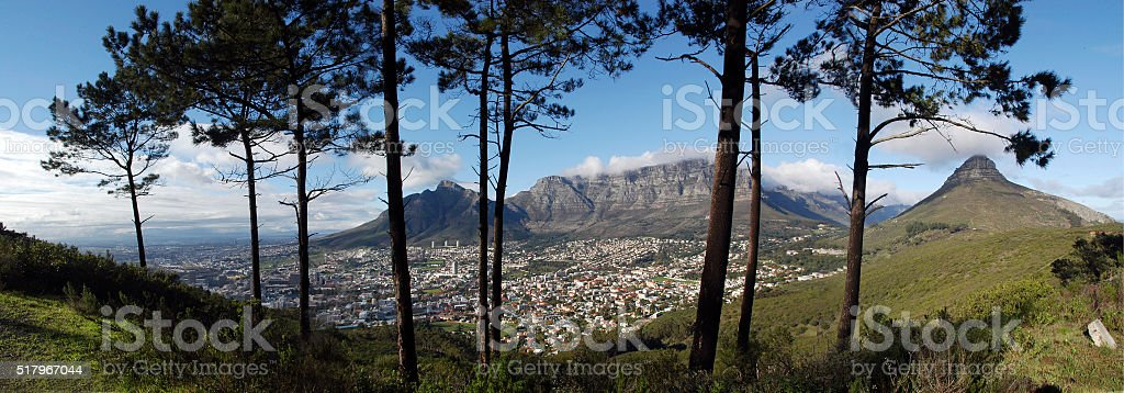 Cape Town Panorama stock photo