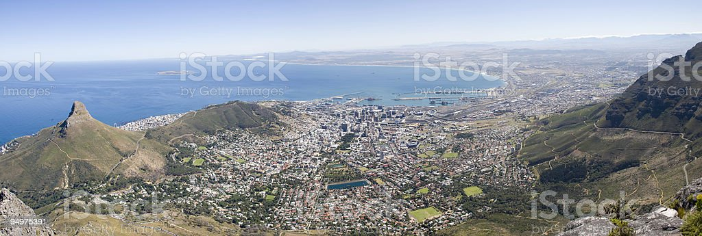 Cape Town Panorama royalty-free stock photo