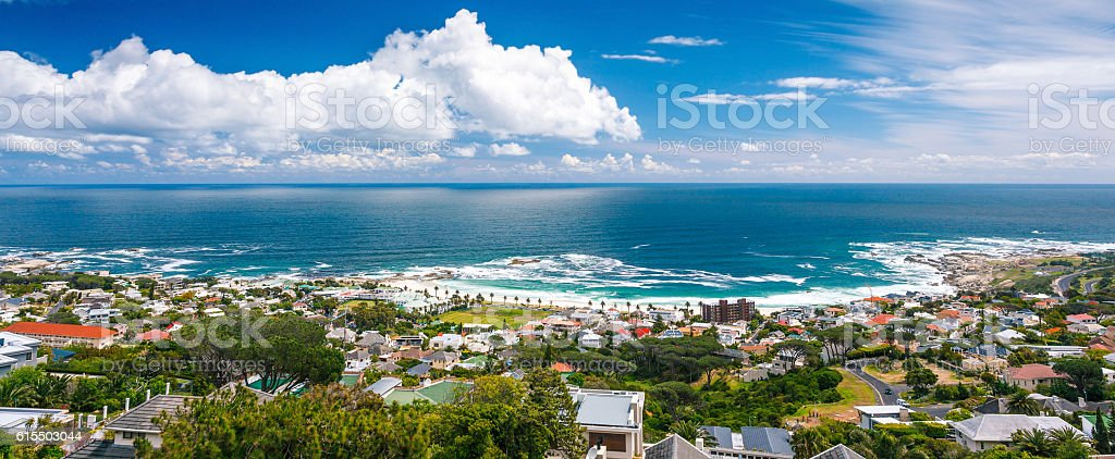 Cape Town panoramic landscape stock photo