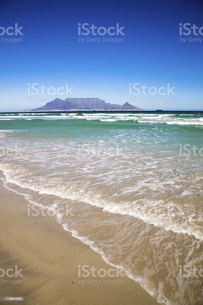 Cape Town seashore royalty-free stock photo