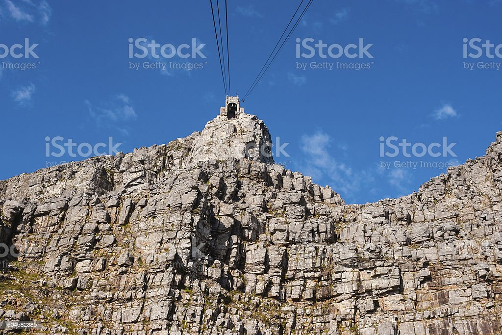 Cape Town, South Africa - Cable car to Table Mountain royalty-free stock photo