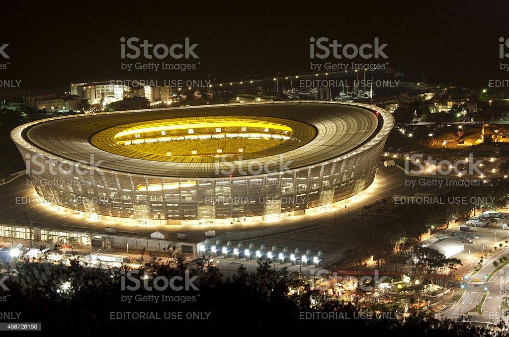 Cape Town Stadium at night stock photo