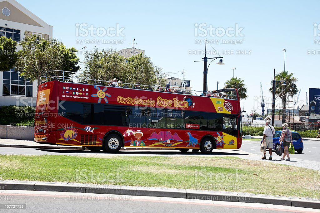 Cape Town tourist bus stock photo