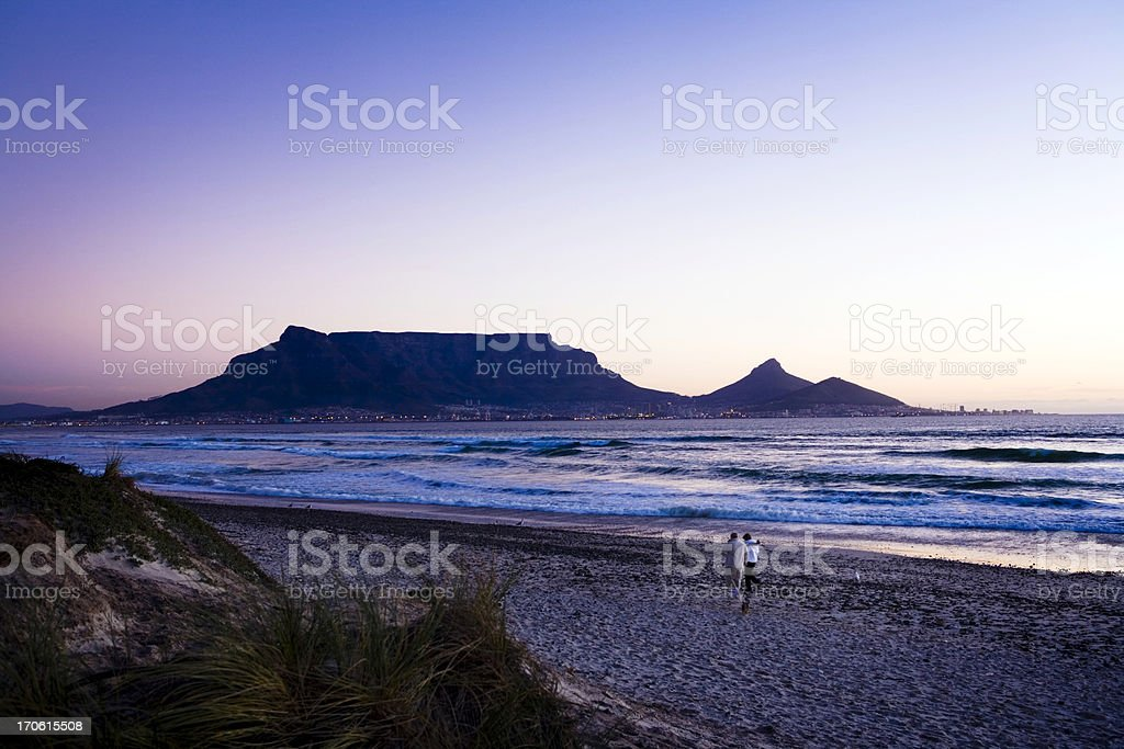 Cape Town twilight royalty-free stock photo