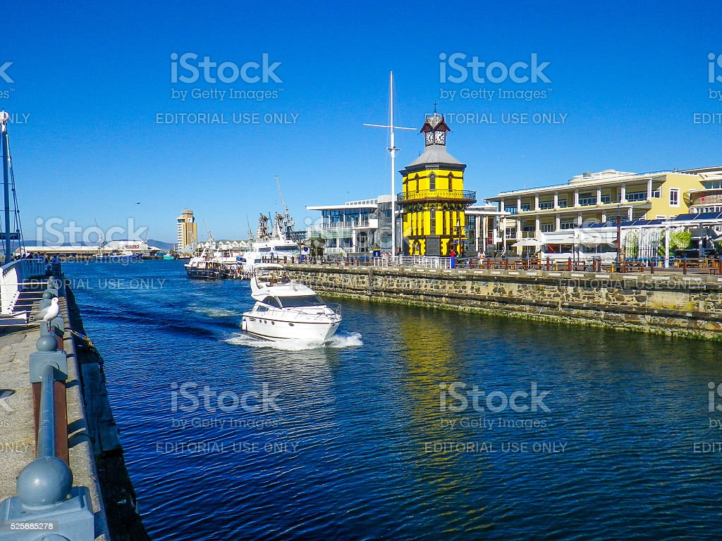 Cape Town V A Waterfront Clock Tower stock photo