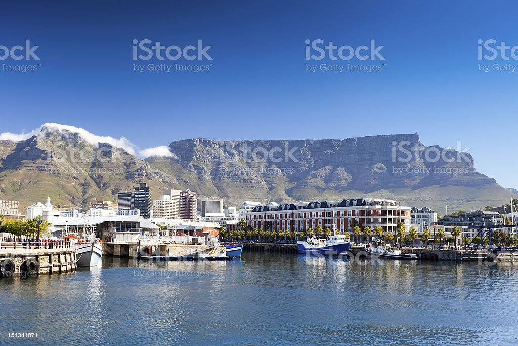 cape town v&a waterfront stock photo