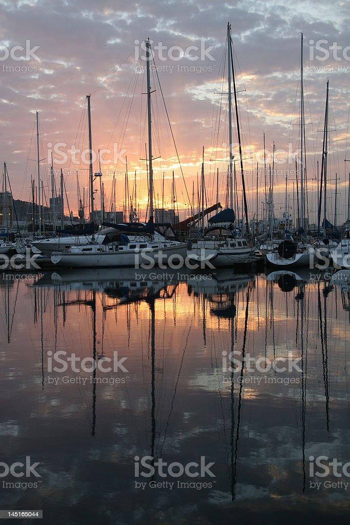 Ciudad del cabo Yacht Club foto de stock libre de derechos