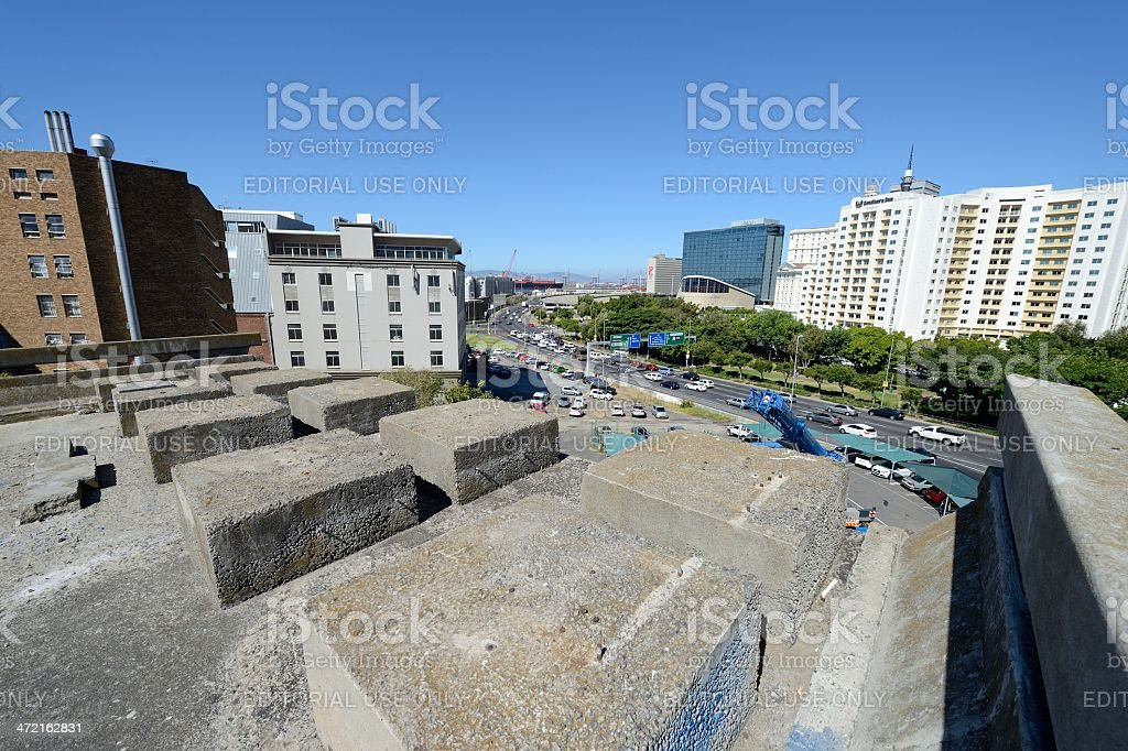 Cape Town's unfinished highway foreshore view stock photo