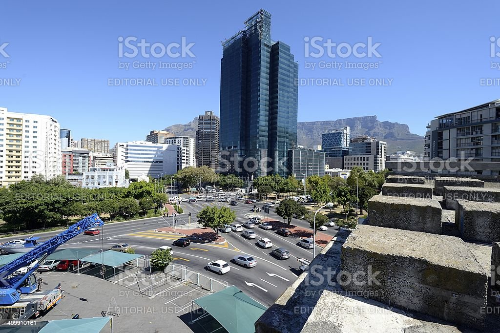 Cape Town's unfinished highway stock photo