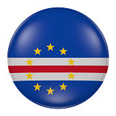 Cape Verde button on white background