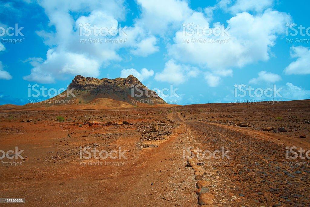 Cape Verde Desert Landscape royalty-free stock photo