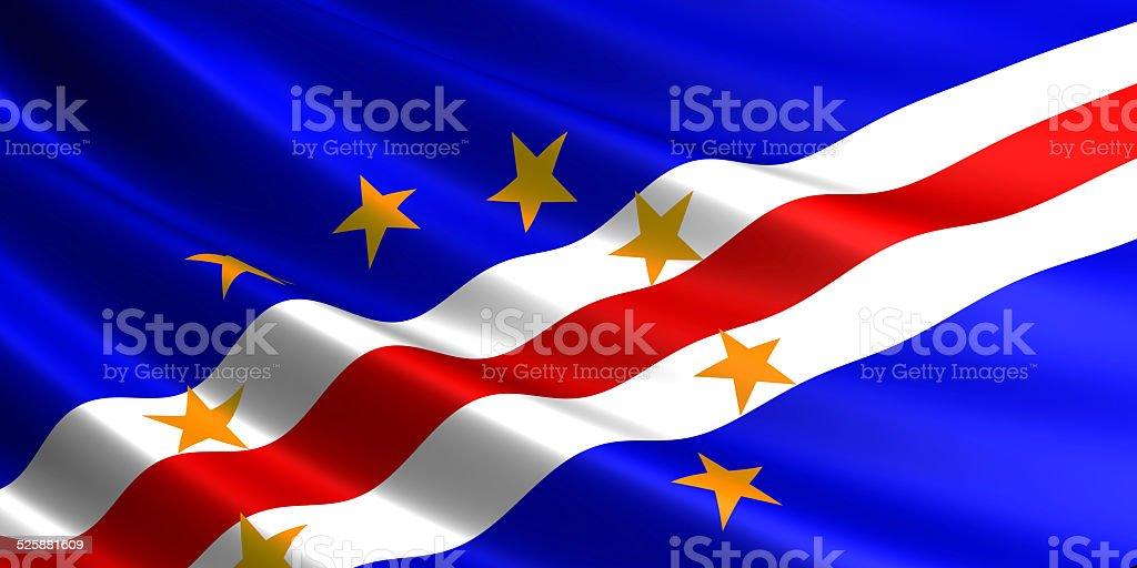 Cape Verde flag. royalty-free stock photo
