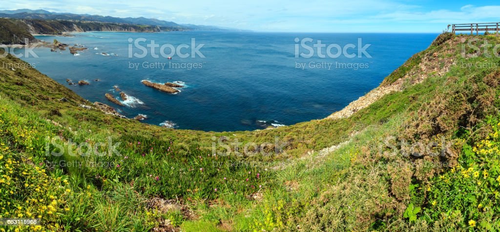 Cape Vidio coastline (Asturias coast, Spain). stock photo