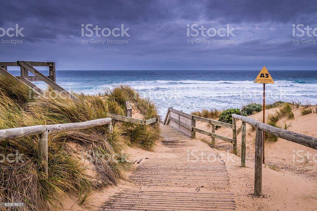 Cape Woolamai beach at Phillip Island stock photo