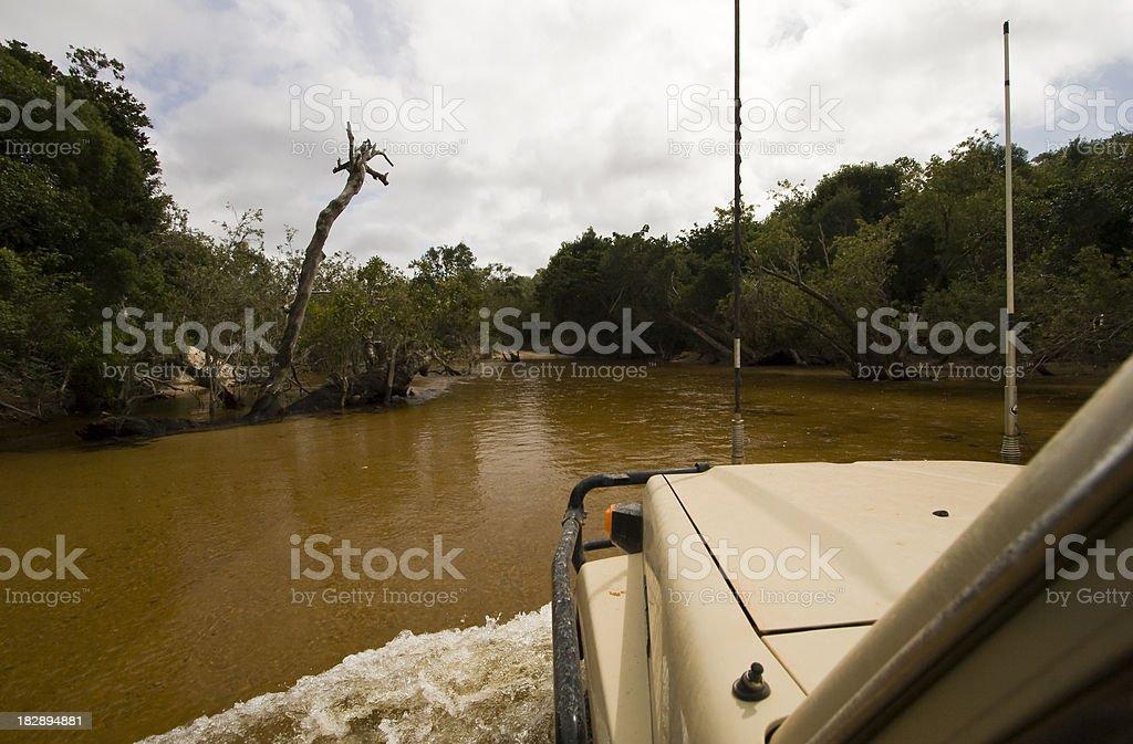 Cape York Water Crossing stock photo