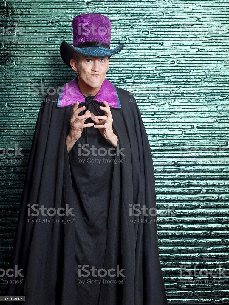 Caped Villain royalty-free stock photo