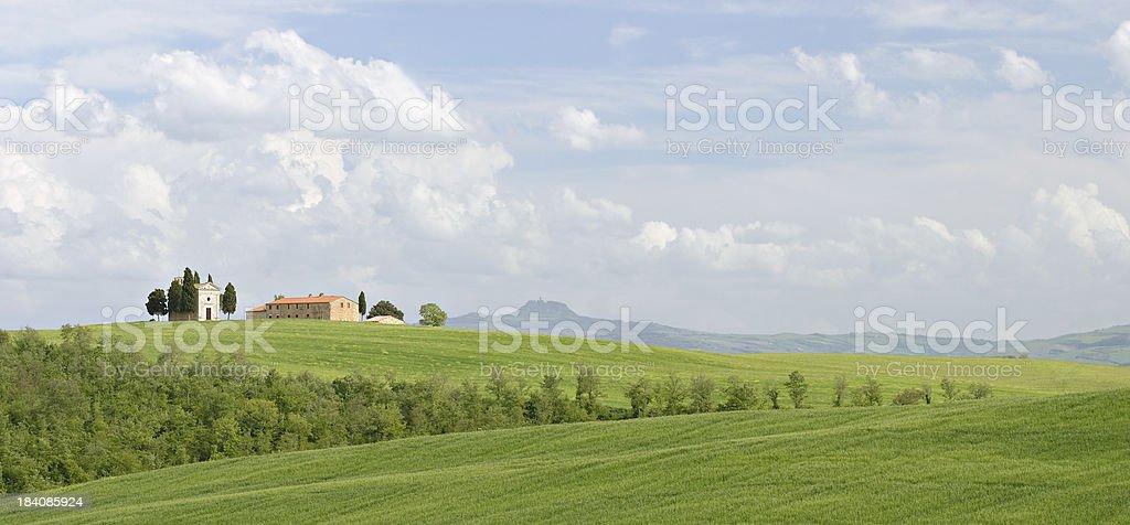 Capella di Vitaleta royalty-free stock photo