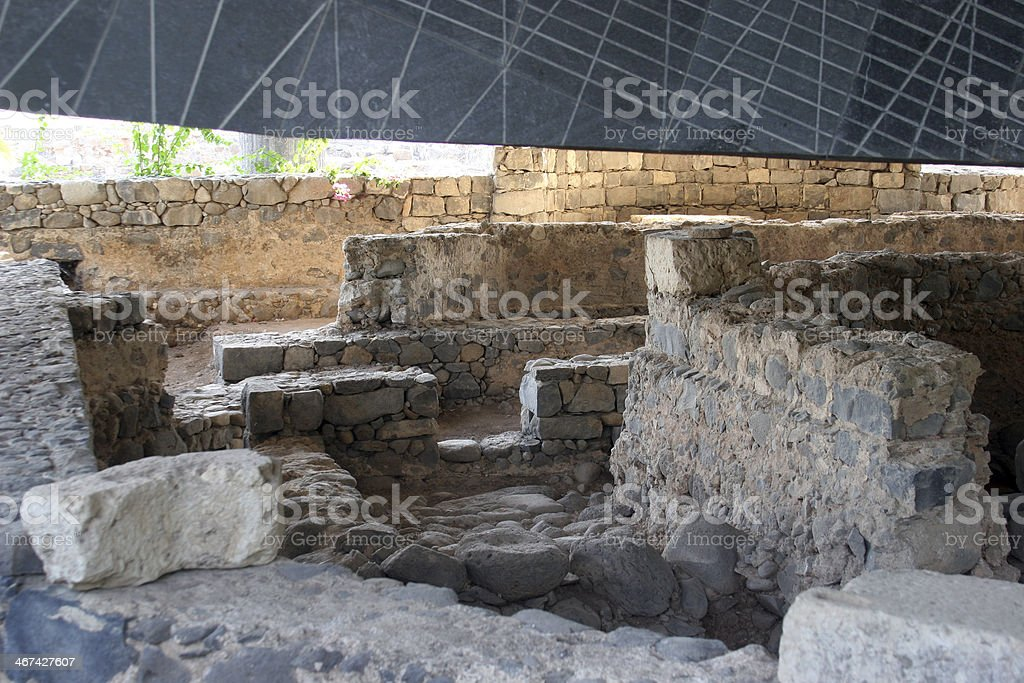 Capernaum The House of Saint Peter royalty-free stock photo