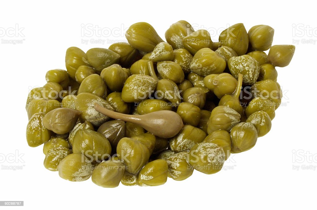 Capers isolated royalty-free stock photo