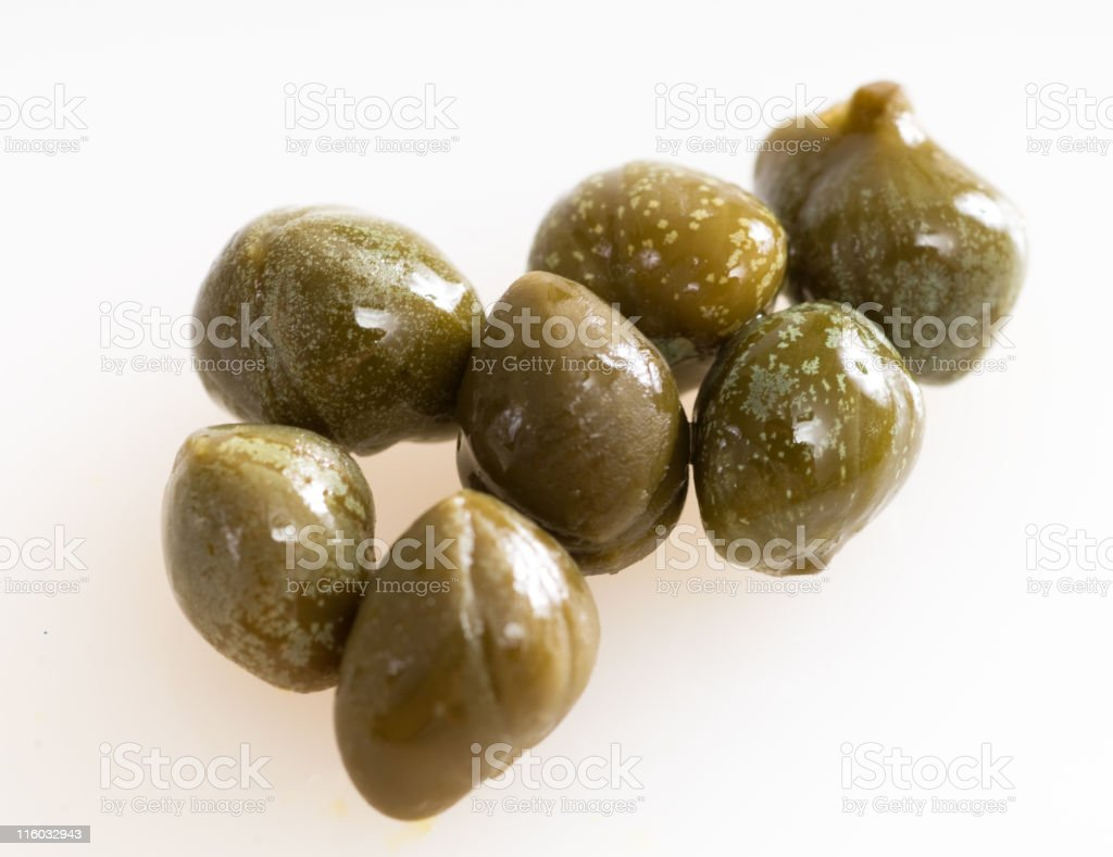 Capers macro stock photo