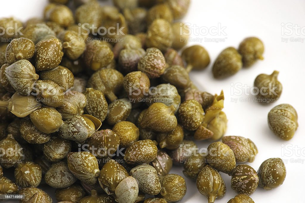 capers on white background royalty-free stock photo