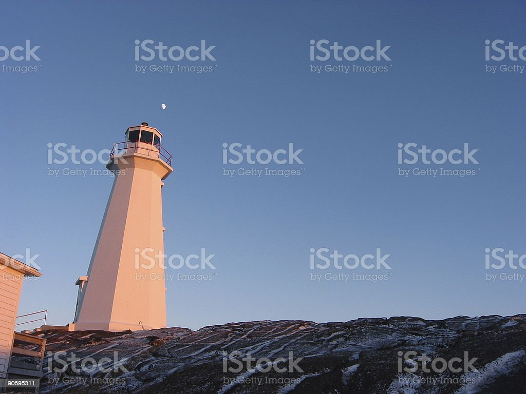 Capespear Lighthouse royalty-free stock photo