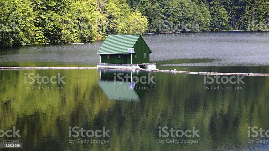 Capilano Lake stock photo