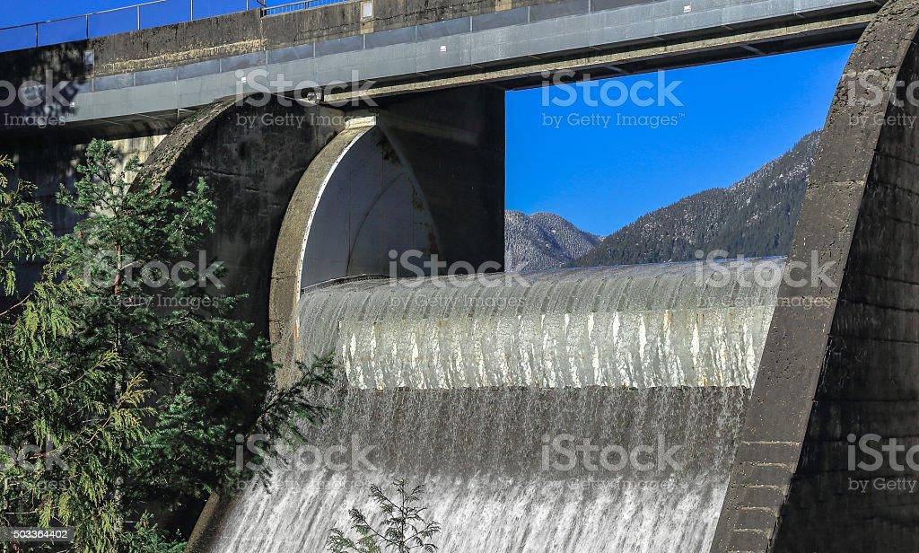 Capilano Lake's Dam stock photo