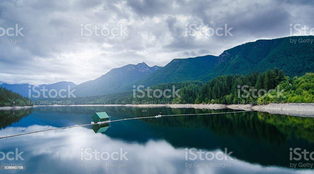 Capilano River Mountains Vancouver British Columbia stock photo