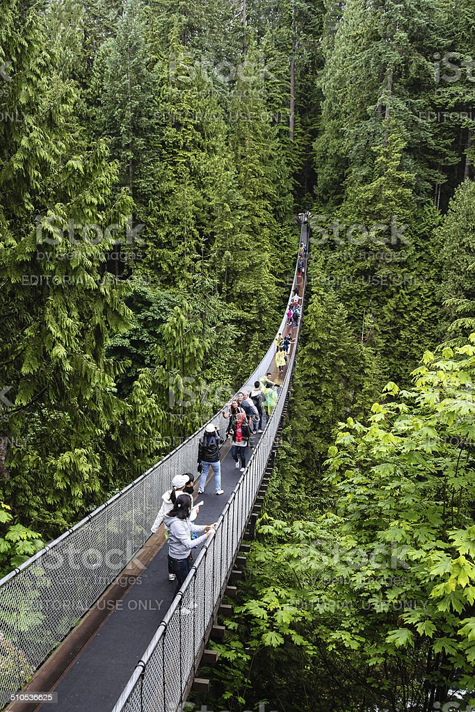 Capilano Suspension Bridge in Vancouver stock photo