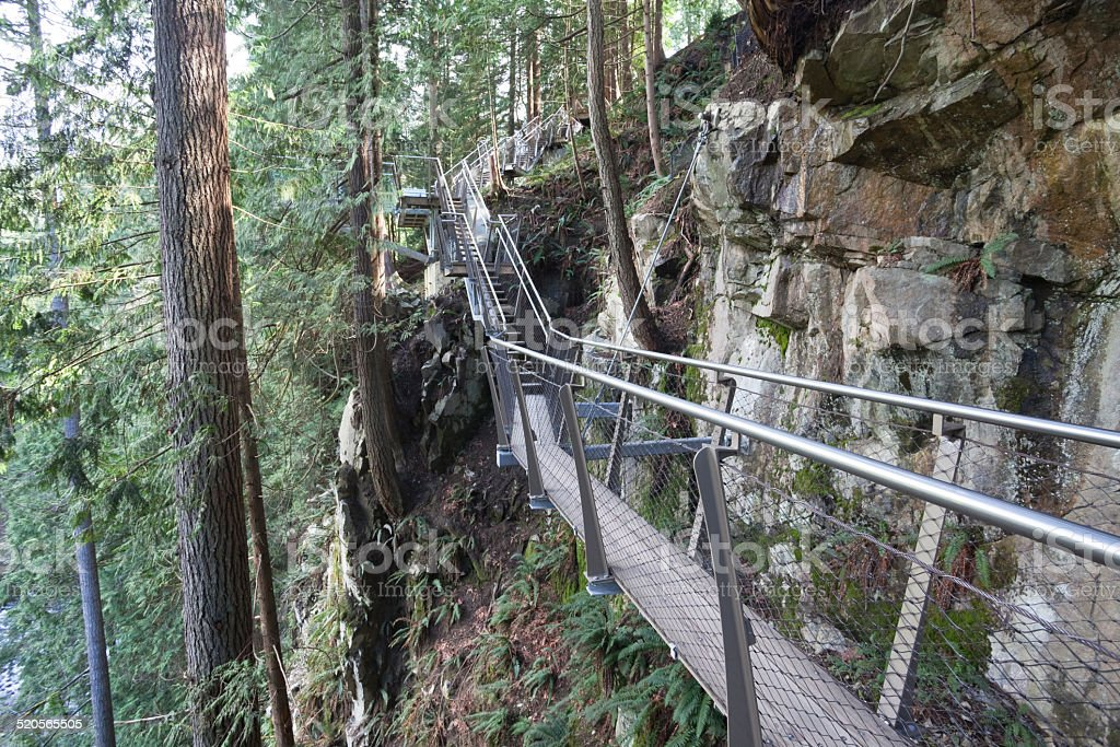 Capilano Suspension Bridge Park stock photo