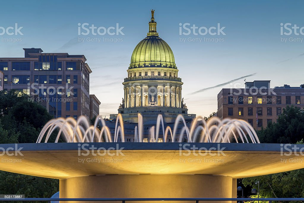 Capital at dusk stock photo
