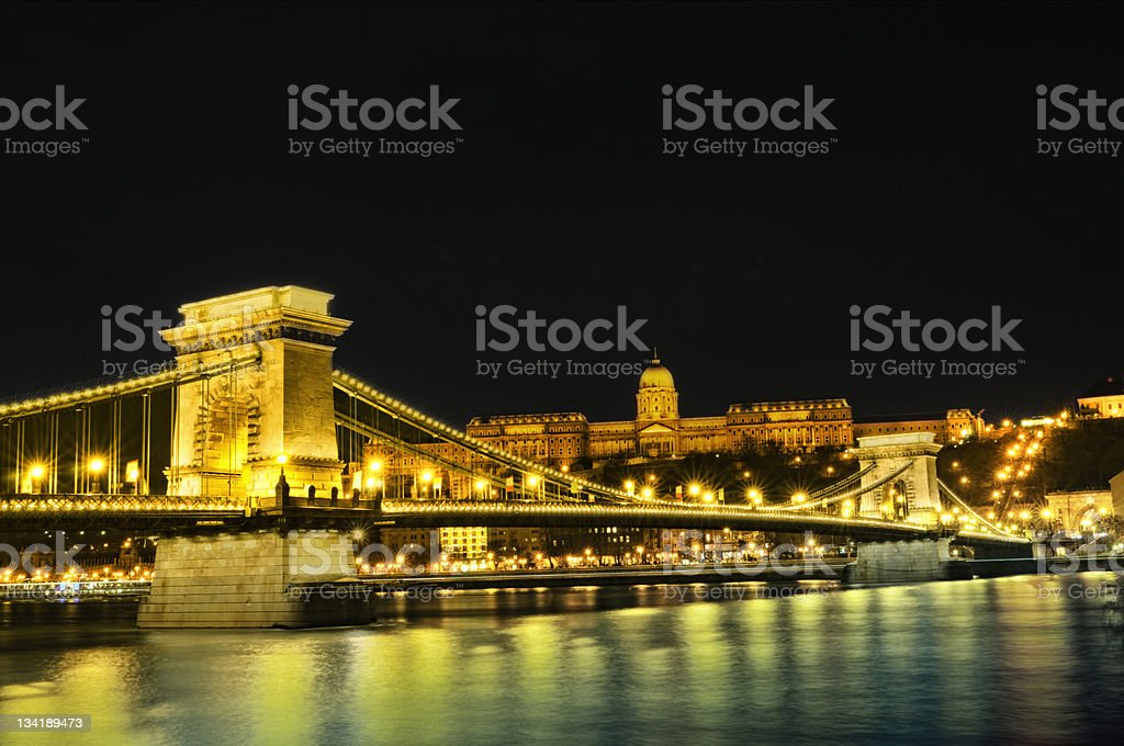 Capital at night royalty-free stock photo