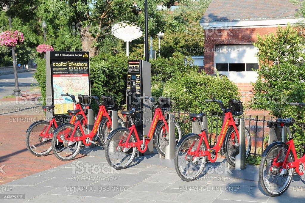 Capital Bikeshare stock photo