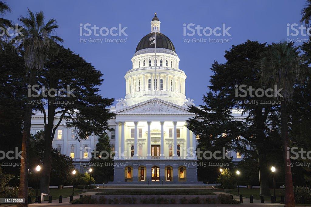 Capital Building At Night royalty-free stock photo