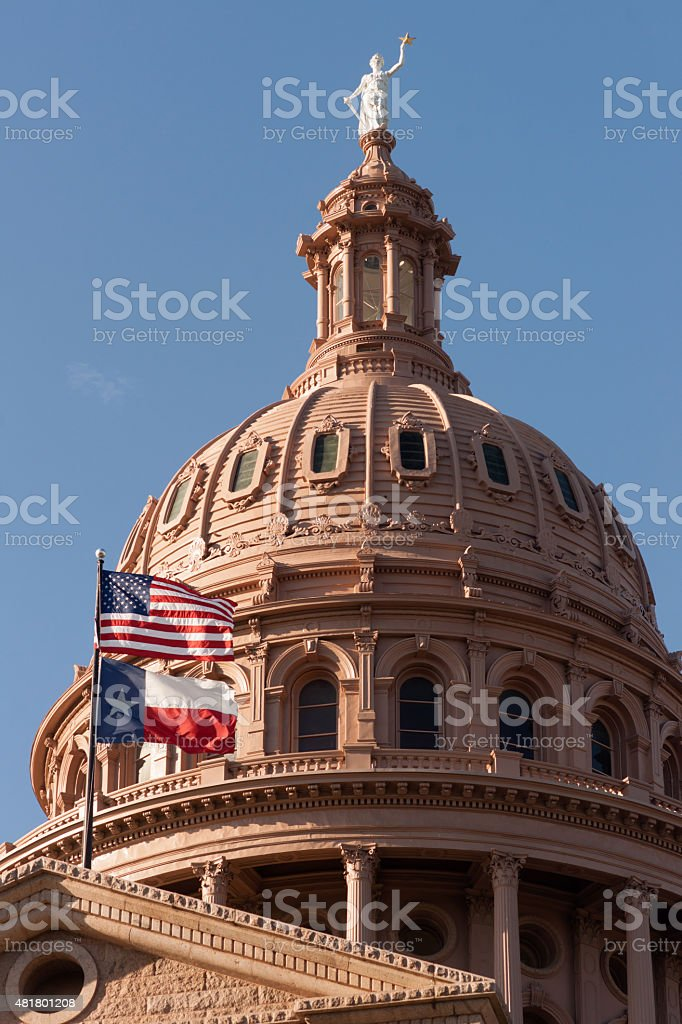 Capital Building Austin Texas Government Building Blue Skies stock photo
